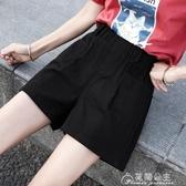 短褲女夏季新款薄款高腰垂感大碼闊腿休閒寬鬆顯瘦百搭女褲 花間公主