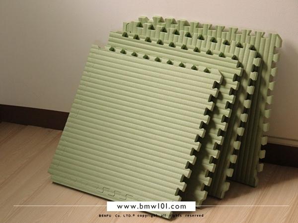 【本富地墊專家】NO.018-台灣製100cm / 50cm 厚度2公分-仿榻榻米草蓆紋巧拼地墊.遊戲墊.