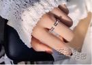 戒指 冷淡風閃鑽網紅鈦鋼食指環戒指女簡約氣質日韓chic潮人個性學生 衣櫥秘密