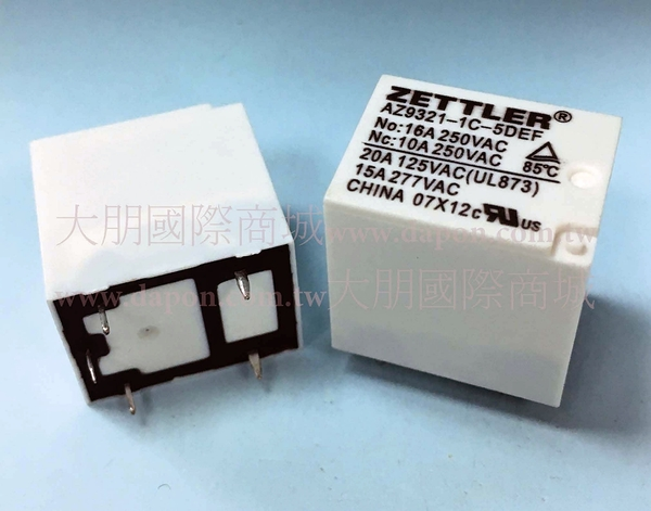 *大朋電子商城*AMERICAN ZETTLER AZ9321-1C-12DF 繼電器Relay(5入)
