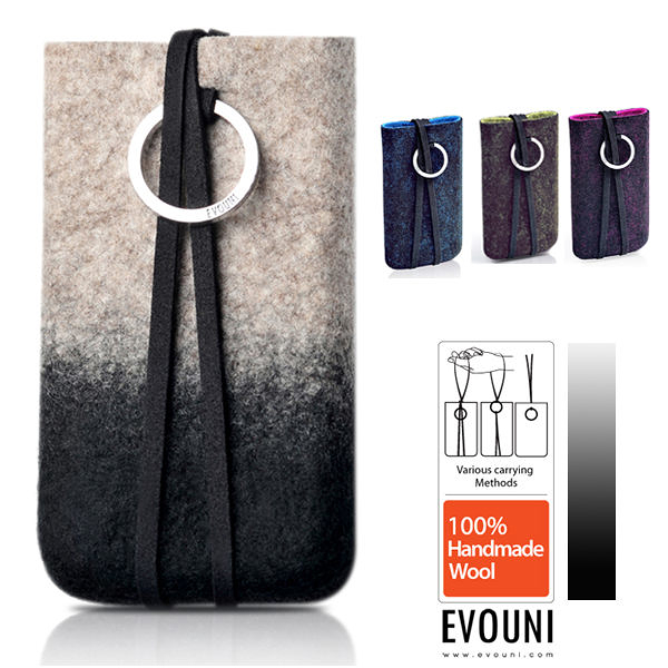 【A Shop】EVOUNI W54 原_手作羊毛保護套 for iPhone6/5/5S/5C/4/4S&Smart phone (4.0~4.3吋)