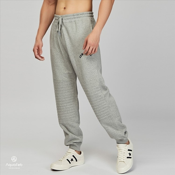 Converse Quilted Panel Jogger 男子 灰色 休閒 慢跑 長褲 10004695-A02