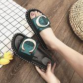 新品女夏外出拖鞋時尚外穿平底涼拖半拖鞋女百搭防滑沙灘鞋女 【限時八五折】