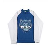 【KENZO】虎頭長袖上衣(藍白色) F655SW1174XD 74