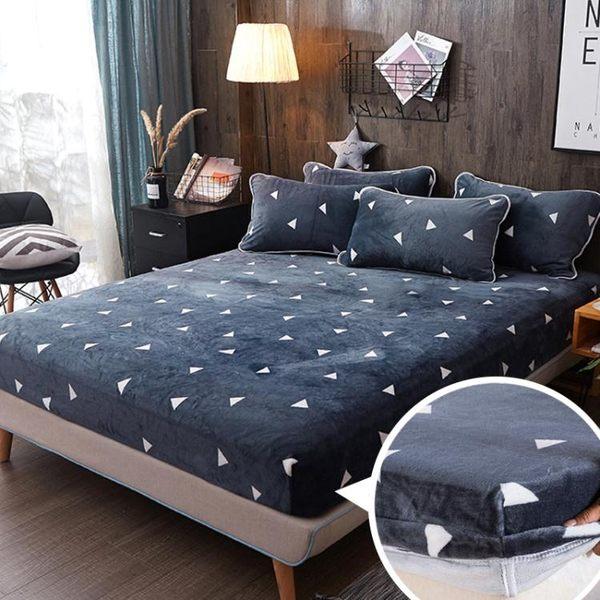 床包 法蘭絨床包單件珊瑚絨床罩席夢思床墊保潔墊加厚1.8m床單防塵罩