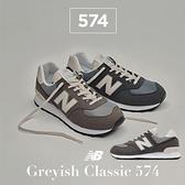 New Balance 休閒鞋 574 灰 藍 麂皮 復古 男鞋 女鞋 情侶款 1300JP 配色 NB 【ACS】 ML574SRPD