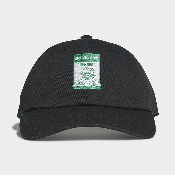 ADIDAS DISNEY KERMIT 帽子 老帽 休閒 迪士尼 科米蛙 聯名款 黑【運動世界】GN2289