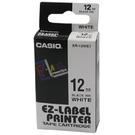 【奇奇文具】卡西歐CASIO XR-12WE1 12mm×8M 白底黑字 標誌帶
