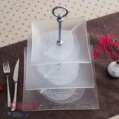 歐式三層現代創意蛋糕架干果水果盤鋼化玻璃下午茶點心時尚果盤子【奇貨居】