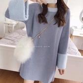 秋冬裙子中長款毛衣裙 內搭打底針織連身裙女 秋冬新品 超值價