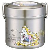 〔小禮堂〕迪士尼 長髮公主 超輕量圓型不鏽鋼便當盒《銀紫》600ml.保鮮罐.湯罐 4973307-43489