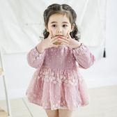 2018新款女寶寶嬰兒公主裙子1-4歲春裝女童洋裝蕾絲蓬蓬網紗裙3禮物限時八九折