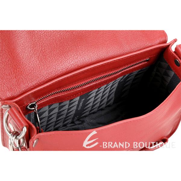 PROENZA SCHOULER PS1 Mini Pouch 銀釦羊皮斜背包(紅色) 1630148-E4