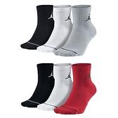 NIKE 男女運動襪 (三雙入 襪子 中筒襪 慢跑 路跑 籃球 飛人喬丹≡體院≡ SX5544