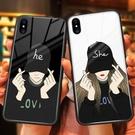 蘋果x手機殼iphone7plus玻璃殼...