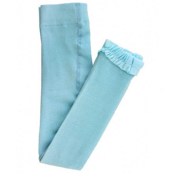 褲襪/內搭褲/寶寶襪 Rufflebutts 小女童甜美公主荷葉邊內搭褲-水藍色 RLKSB-0000