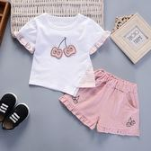 女寶寶夏裝2018新款嬰幼兒童裝小女孩衣服0-1-2-3歲夏季短袖套裝4  限時八折鉅惠 明天結束