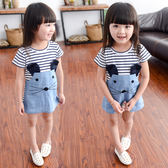 女童短袖夏裝T恤1-2-3-4-5歲女寶修身裙子6女孩嬰幼兒連衣裙  喜迎中秋 優惠兩天