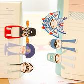✭米菈生活館✭【P219】中國風京劇七角色書籤 文具 學生 上班 筆記 古典 套裝 創意 卡片 辨識