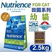 [寵樂子]《美國紐崔斯天然寵糧》田園系列-幼貓(雞肉+糙米)2.5kg/貓飼料