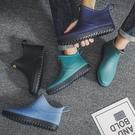 防水雨鞋夏季短筒水鞋雨鞋男低筒時尚潮流雨靴廚房膠鞋防水防滑學生套  快速出貨
