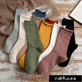 保暖襪子 中保暖襪子子女中筒襪潮秋冬季月子襪純棉百搭堆堆【全館免運】