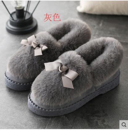 毛毛鞋 棉鞋冬韓版時尚百搭學生毛毛休閑平底單鞋-炫彩腳丫店