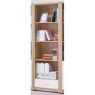 【森可家居】安迪雙色2尺下抽開放書櫃 8SB232-5 收納書櫥 木紋質感 無印北歐風 MIT台灣製造