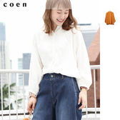 女襯衫 長版襯衫 麻 嫘縈 抓皺 罩衫 免運費 日本品牌【coen】
