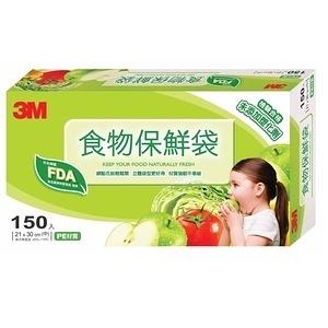 3M食物保鮮袋(中)盒裝150入