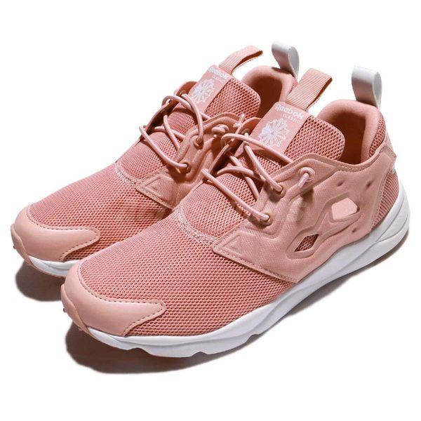 【粉粉DER】Reebok 休閒慢跑鞋 Furylite Mesh 粉紅 白 透氣網布 女鞋 運動鞋【PUMP306】 CN0111