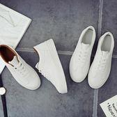 小白鞋女鞋春季百搭正韓白鞋學生厚底新款夏季透氣休閒板鞋子  快速出貨