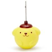 〔小禮堂〕布丁狗 大臉造型軟掐矽膠有聲吊飾《黃棕》掛飾.鑰匙圈 4901610-63029