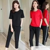 夏季休閒運動套裝2020新款時尚韓版大碼跑步服顯瘦女裝兩件套夏潮 韓慕精品