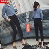 休閒褲 雪紡哈倫褲女夏季薄款七分2021新款韓版寬鬆休閒闊腿小腳九分西裝 夏季新品