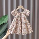 女童洋裝 女童連身裙夏裝2021新款小童碎花裙夏季網紅裙子寶寶洋氣公主裙潮