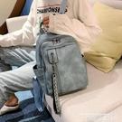 皮革後背包 後背包2021年新款韓版簡約上班小背包女PU軟皮大容量百搭皮質書包 曼慕