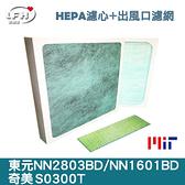 HEPA濾心+出風口抗菌濾網/NN2803BD、NN1601BD、S0300T清淨機適用