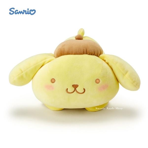 日本限定 布丁狗 腮紅版 趴姿抱枕 玩偶娃娃 29cm