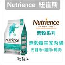 Nutrience紐崔斯〔無穀養生室內貓糧,火雞+雞+鴨,2.5kg,加拿大製〕