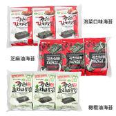 韓國 SAMWON 傳統芝麻油/橄欖油/泡菜口味 海苔 4gx3包入【新高橋藥妝】3款供選