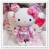 小花花日本精品♥ Hello Kitty 日本樂園限定 娃娃 玩偶 絨毛布偶 彩色熊50084005