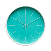 Lovel 30cm北歐簡約金屬框靜音時鐘-藍(T721–TN)