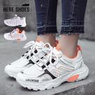 [Here Shoes]男鞋-網格皮質鞋面 綁帶休閒鞋 運動鞋 簡約百搭 男款男鞋-KBX-108