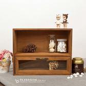 復古桌面辦公室木製木質創意收納盒抽屜式護膚化妝品整理盒置物架【全館免運好康八折】