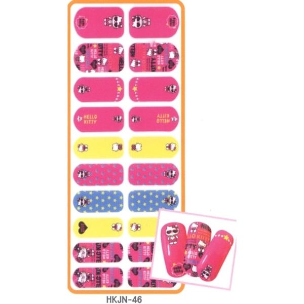 Hello Kitty 搖滾指甲彩繪貼 - 46 /美甲貼/指甲貼