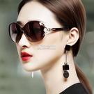 女士偏光太陽鏡圓臉墨鏡女潮明星款防紫外線眼鏡新款長臉