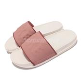 Nike 拖鞋 Wmns Offcourt Slide 白 粉紅 女鞋 大LOGO 涼拖鞋 【ACS】 BQ4632-104