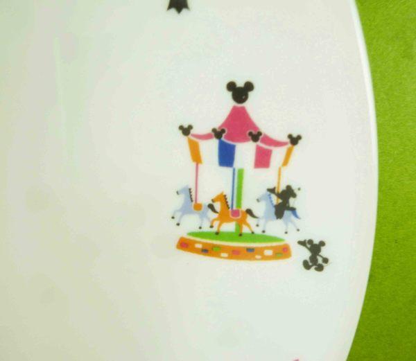 【震撼精品百貨】Micky Mouse_米奇/米妮 ~盤子-白樂園