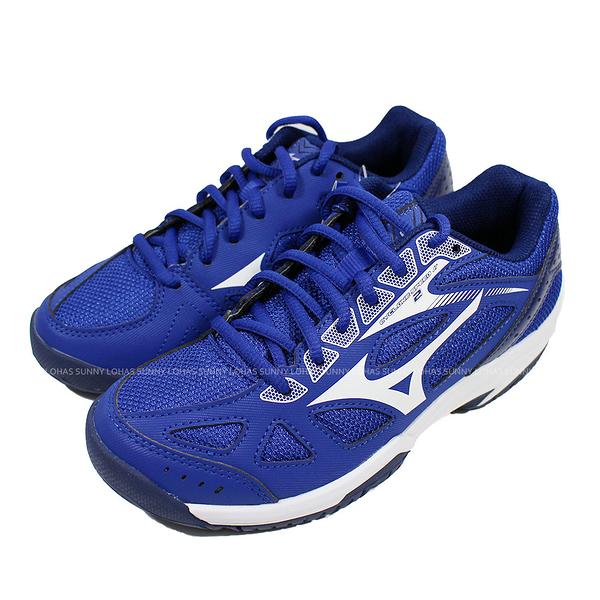 (B8) MIZUNO 美津濃 童鞋CYCLONE SPEED 2 排球鞋 羽球鞋 V1GD191020藍 [陽光樂活]